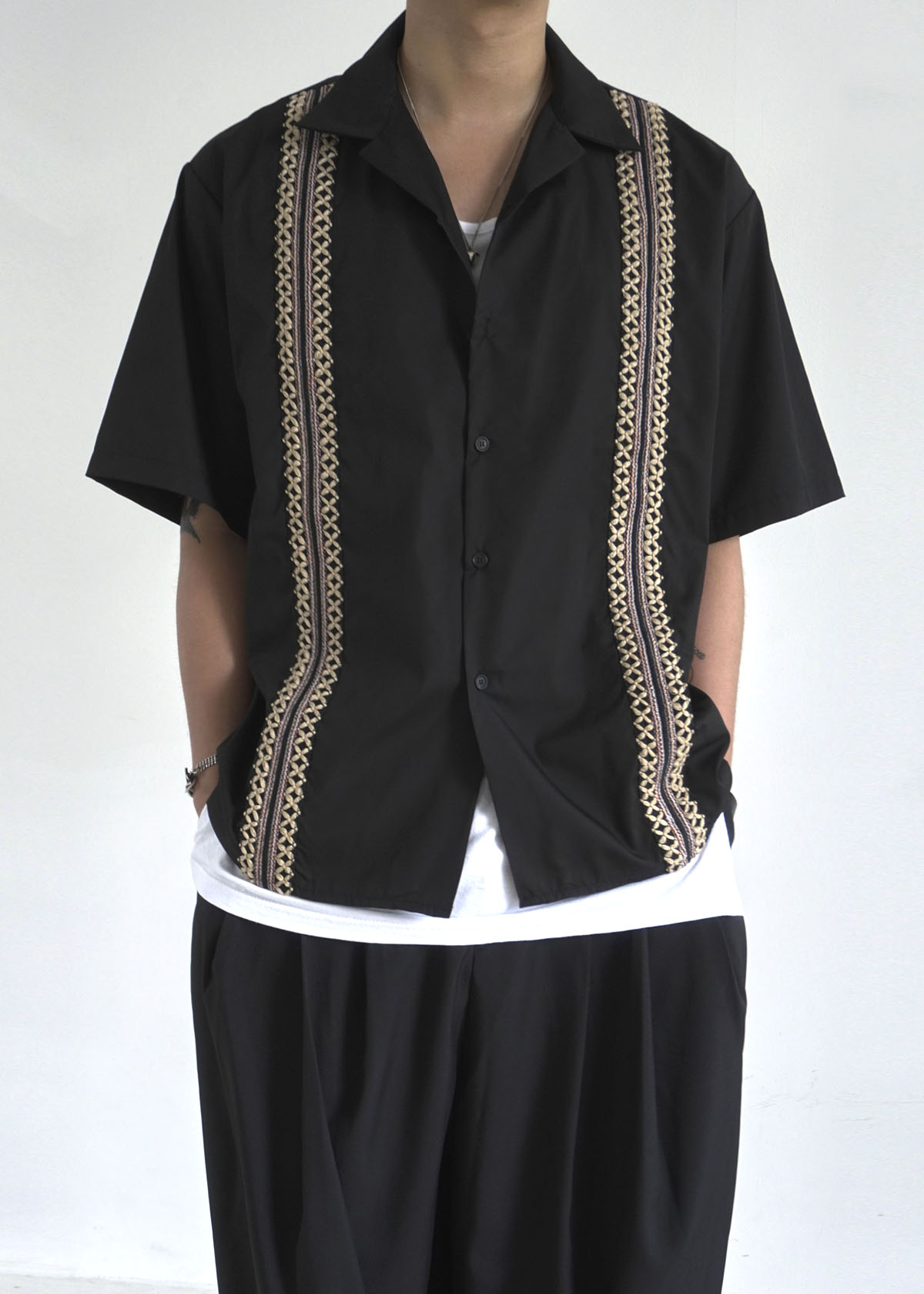 Ethnic Open Collar Half Shirts (3Color)