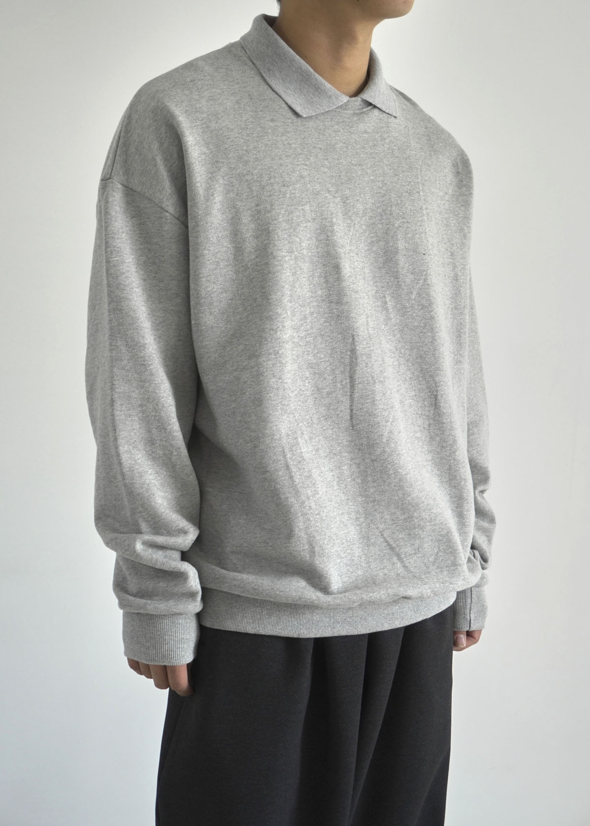 Layered Collar-neck Sweatshirts (2Color)