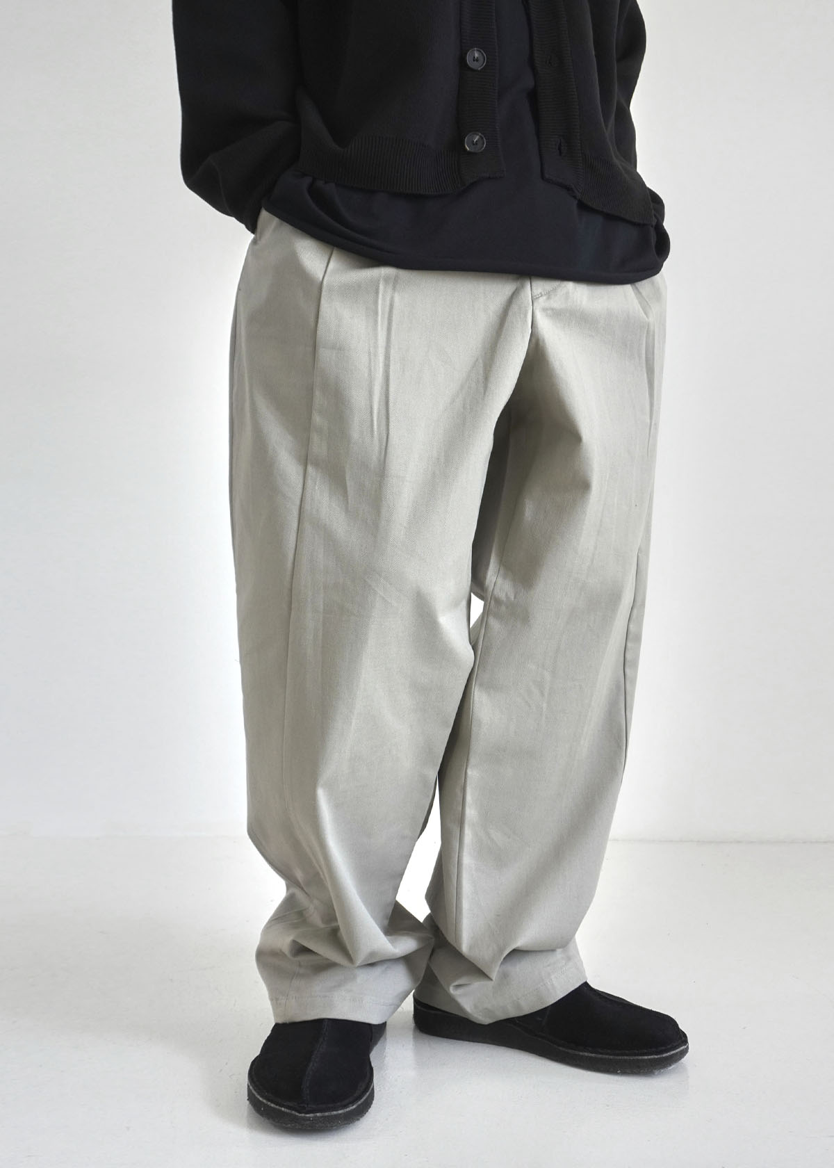 Inside Pin Tuck Wide Pants (2Color)