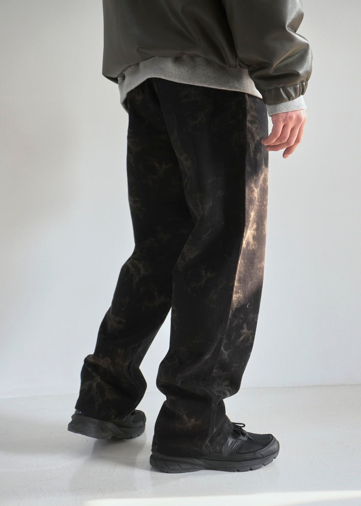 Contrast Printing Wide Pants (2Color)