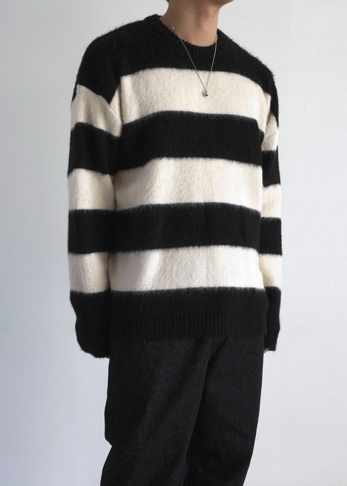 Hairy Loose Stripe Knit (3Color)